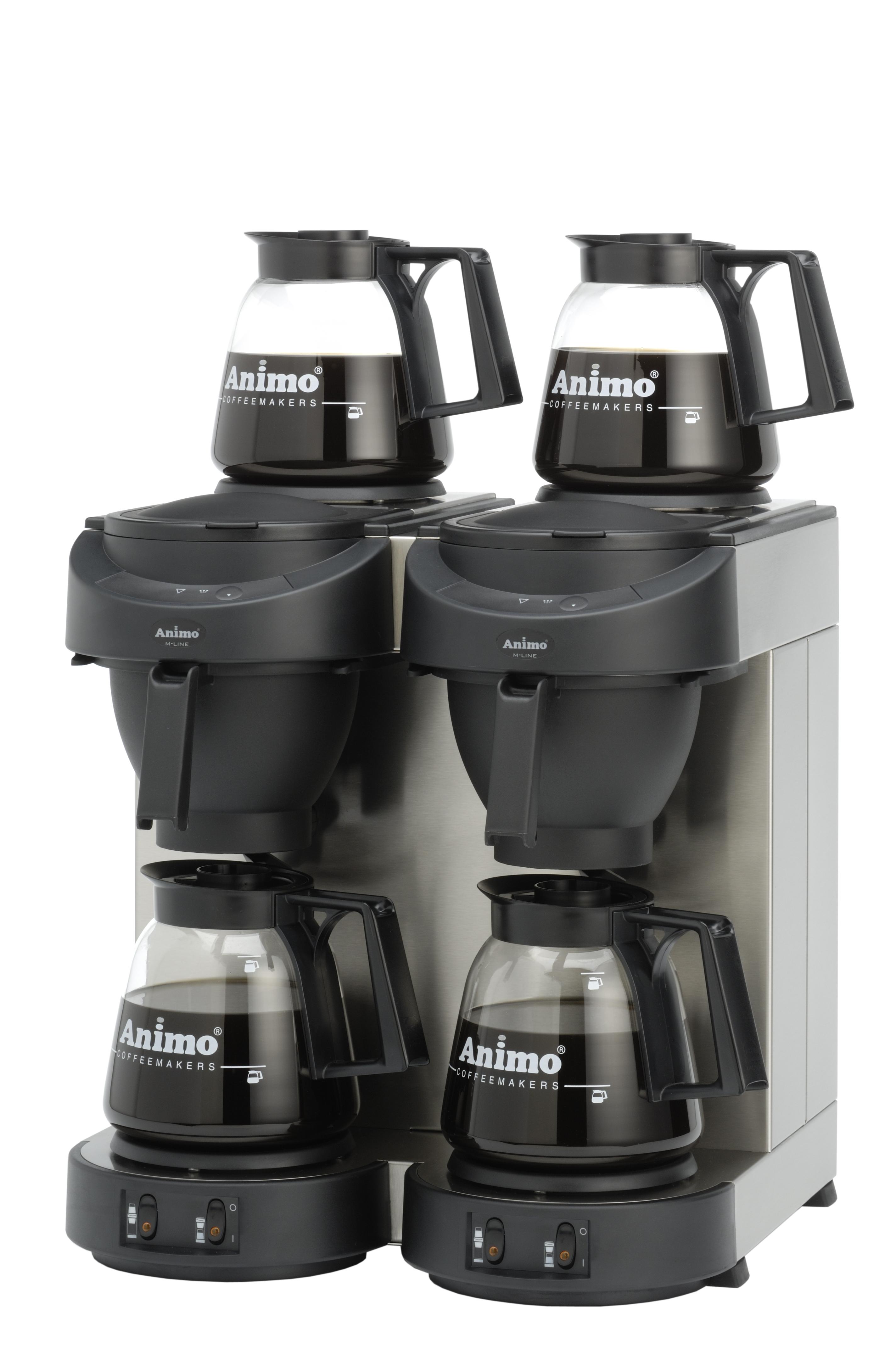 Koffiemachine met glaskan