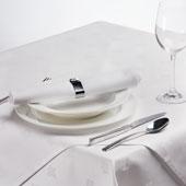Damast tafellinnen met klimopblad motief